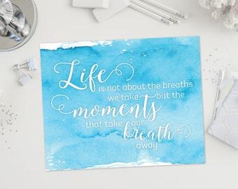 Printable Art - Dorm Decor - Motivational Quote - Watercolor Art - Printable Quote - Inspirational Quote - Instant Download - Happy Art
