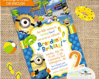 Minions Pool Party Printable Invitation