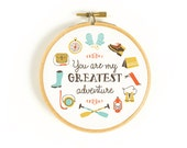 Greatest Adventure Art Hoop