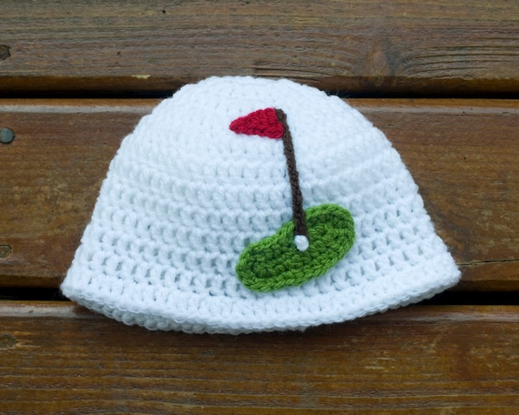 BABY GOLF HAT Baby Girl Golf Beanie or Baby Boy by Grandmabilt