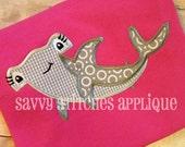 Hammer Head Shark Machine Embroidery Applique Design
