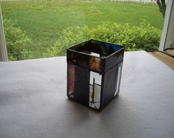 Stained Glass Bevel Stripe Candle Holder