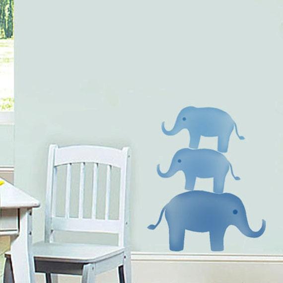 Elephant nursery stenc...