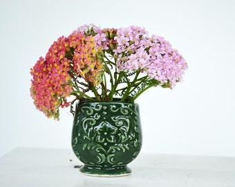 Vintage Mini Japan Ceramic Vase ~ Vintage Made in Japan ~ Small Green Vase