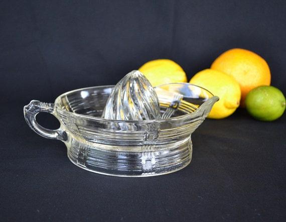 Glass Citrus Juicer Electric ~ Large vintage glass juicer reamer citrus