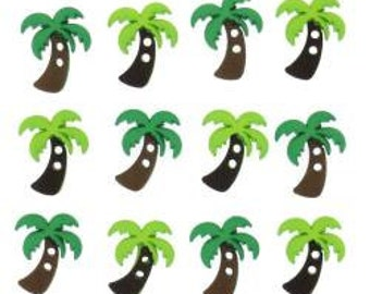 Palm Tree Buttons