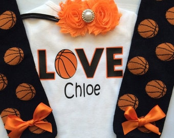 Baby Girl Basketball Outfit n- basketball legwarmers - newborn basketball outfit - personalized basketball baby outfit-choose your pieces