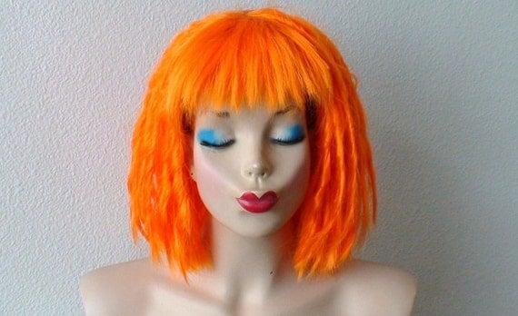 perruque cosplay leeloo perruque dreadlocks orange par kekeshop le fait main. Black Bedroom Furniture Sets. Home Design Ideas