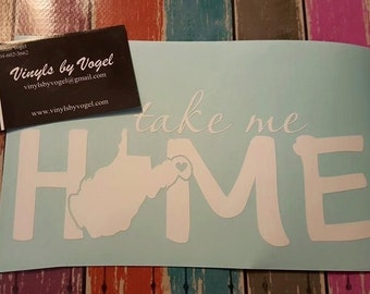 take me HOME decal