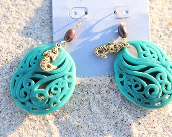 Filigree Mermaid Earrings
