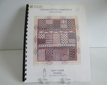 Canvas Stitch Sampler II Counted Cross Stitch Pattern - Filling Stitches - Light House Designs - Cross Stitch Pattern - Beginner or Advanced