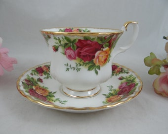"""Delightful English Bone China Royal Albert """"Old Country Roses"""" English Teacup and Saucer set - English Tea Cup - 10 Available"""