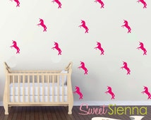Unicorn wall decals, Unicorn decal, Unicorn wall sticker, nursery wall decal, wall decals, wall stickers, vinyl wall decal stickers  x 40