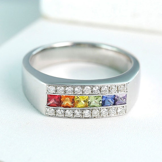rainbow ring lgbt pride miniature - photo #18