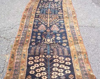 Persian Rug - 1920s Hand-Knotted, Kurdish Runner (3141)