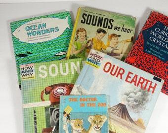 Lot of 6 Vintage Science Children's Books