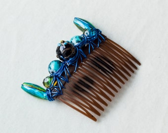 Water Scout, deep blue ocean hair comb