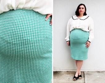 Plus Size Vintage Floral Paper-Bag Waist Ruffle Hem Skirt