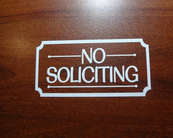 No Soliciting Decal Sign Window DIY & Save Outdoor Vinyl Letters Business Sticker Door Do It Yourself Save Boutique Barber Shop Mom Pop