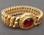 "Art Deco Pitman and Keeler ""The American Queen"" Sweetheart Expansion Bracelet"