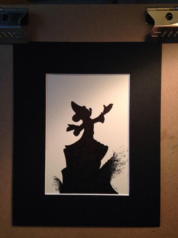 Disney Fantasia Sorcerer Mickey Silhouette