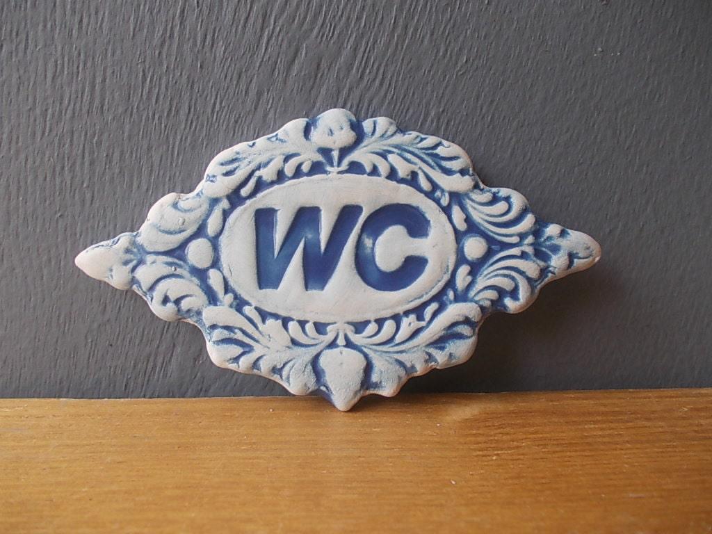 WC Sign / Home decor / Door decor / Bathroom sign / Vintage