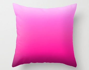 Solid Pink Throw Pillows Modern Minimalist Sunset Decor Pillow cover Cushion covers Pillow case Accent pillow Couch pillow Decore pillow