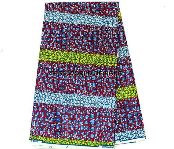 ankara print fabric maxi skirt by tessworlddesigns