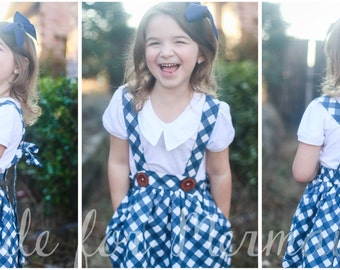 Samantha Suspender Skirt PDF Sewing Pattern Sizes 1/2-14