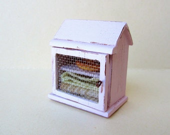 Dollhouse  Miniature Pie Safe Cabinet