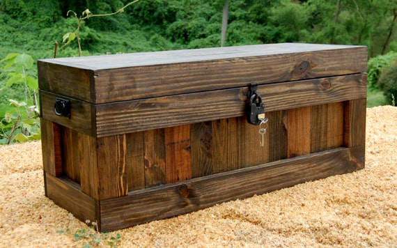 jacobean chest with lock hope chest wooden trunk coffee. Black Bedroom Furniture Sets. Home Design Ideas