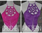 Crochet Pattern - Lotus Crop Top