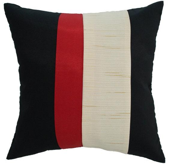 avarada 16x16 striped rainbow throw pillow cover by avaradashop. Black Bedroom Furniture Sets. Home Design Ideas