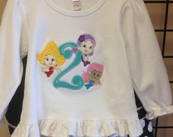 Personalized Bubble Guppies Birthday Shirt- Add name for free
