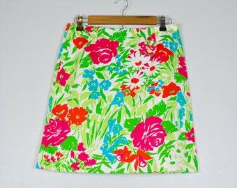 Ralph Lauren Floral Skirt, Vintage Ralph Lauren Skirt