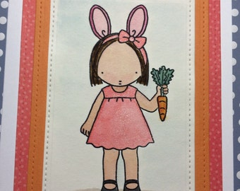 Little Girl Easter Card made with My Favorite Things stamps