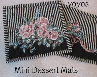 ROSES,  MUG MATS,  Garden Party,  Porch Decor,  Home Décor,  Party Accent,  Hostess Gift,  Gifts for Women, Mother's Day,  Valentine's Day