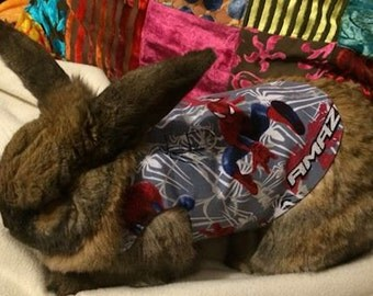 Spiderman harness for your  rabbit , guinea pig , kitten , cat or small pet. These  are made to order
