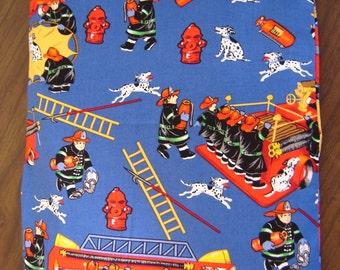 Blue Fireman Print Back Warmer Corn Cozie