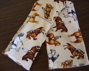 Jumper Horses Print Neck Warmer Corn Cozie