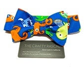 Boys Bow Tie: Boys Monster Bow Tie - Childrens Velcro Cotton Bow Tie