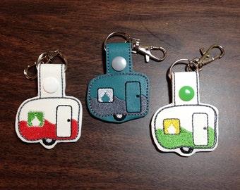 FOB, Camper snap tab keychain or zipper pulls