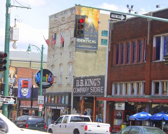 Beale Street View, Fine Art Photograph, Memphis Music,Blues Music, Color Photography, Landscape, Delta Blues, Memphis