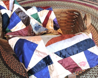 Vintage Crazy Quilt Double Sided Quilt