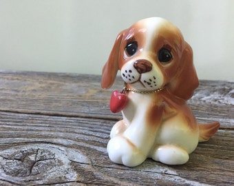 Ceramic Russ Dog with Heart