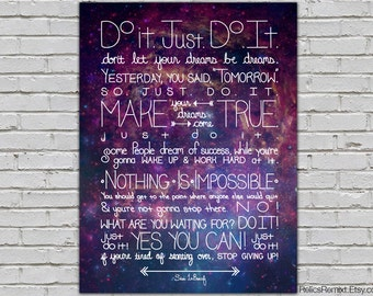 Do It Shia LaBeouf Intense Motivational Speech Quote Poster Galactic Art 8x10 9x12 11x14 16x20 18x24