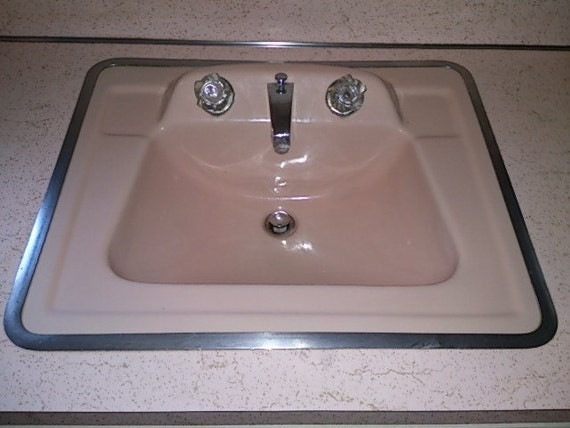 sale for bob 1950s pink bathroom sink