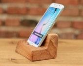 Samsung Galaxy S6 Dock Samsung wood stand Wooden Samsung Galaxy S6 holder Gift ideas