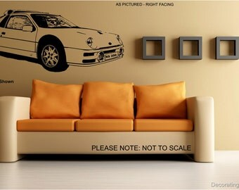 Ford Rs200 Rally Car - Wall Art Sticker - 2 sizes