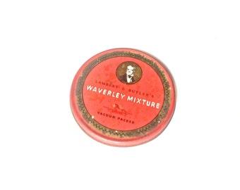 Vintage tobacco tin Lambert Butler Waverley red tobacciana smoking chewing metal box
